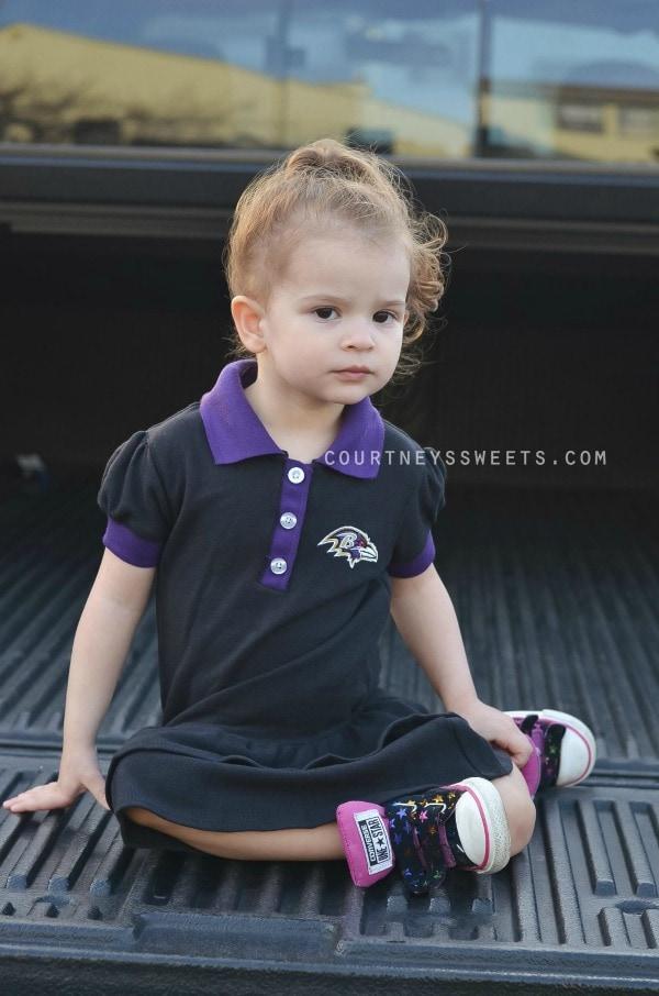 ravens toddler dress