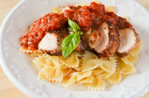 Farfalle with Herb-Marinated Grilled Chicken Recipe