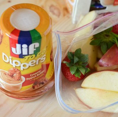 Snacking on the go with Jif and Smuckers Peanut Butter