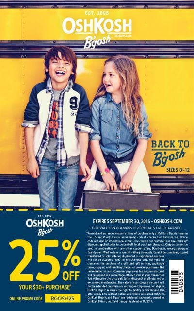 oshkosh 25 percent off coupon