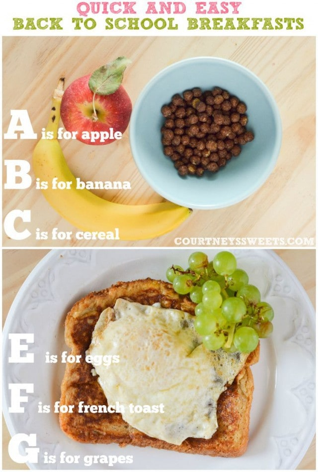 quick and easy back to school breakfasts