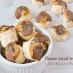 Chocolate Covered Peanut Butter Frozen Banana Protein Bites / Vitamin Shoppe Protein Pantry