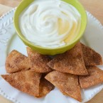 Cinnamon Sugar Tortilla Chips with Maple Yogurt Dip - Super Simple Quick and Easy Recipe for Toddlers to Make!