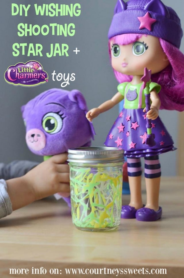 DIY Wishing Shooting Star Jar + Little Charmers Toys more info on www.courtneyssweets.com