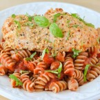 Easy Parmesan Garlic Chicken & Pasta Quick and Easy Recipe. Looking for great Chicken recipes? This is a must make, moist and juicy chicken breasts in less than 30 minutes! www.courtneyssweets.com