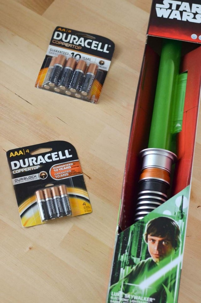 Lightsaber Star Wars Toys at Toys R Us, Power the Force with Durracell Batteries - Courtney s Sweets