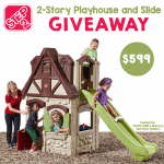 The Playhouse Your Kids Will Love — Step2 Two-Story Playhouse and Slide Giveaway