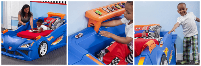 hot wheelstm toddler-to-twin race car bedtm 2