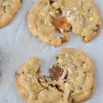 Stuffed Chocolate Chip Cookies with Sea Salt - Simple and delicious holiday cookie recipe www.courtneyssweets.com