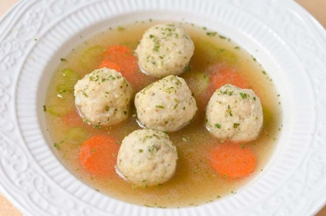 Vegetarian Matzo Ball Soup - Holiday Recipe www.courtneyssweets.com
