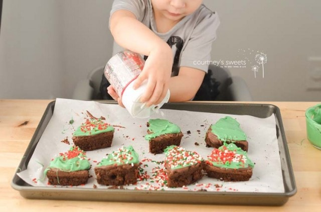 Christmas Tree Holiday Brownies