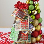 NJ Lottery Tickets Christmas Tree Gift Idea