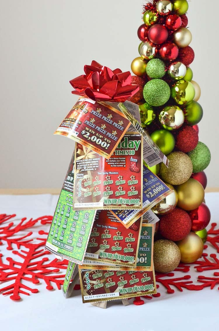Nj Lottery Tickets Christmas Tree Gift Idea Courtney S Sweets