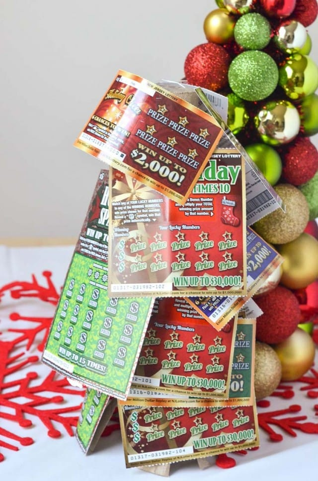 NJ Lottery Tickets Christmas Tree Gift Idea - Courtney's Sweets