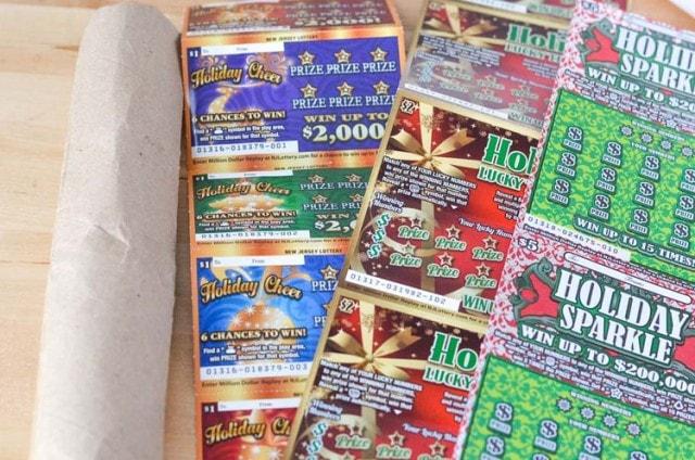 NJ Lottery Tickets Christmas Tree Gift Idea