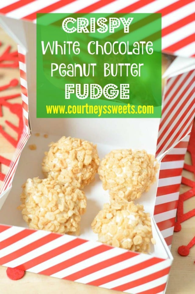 Crispy White Chocolate Peanut Butter Fudge