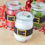 DIY Gift Santa Belt Holiday Candles