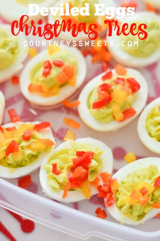 avocado deviled eggs christmas trees plus how to transport food during the holidays with rubbermaid takealongs - Christmas Deviled Eggs