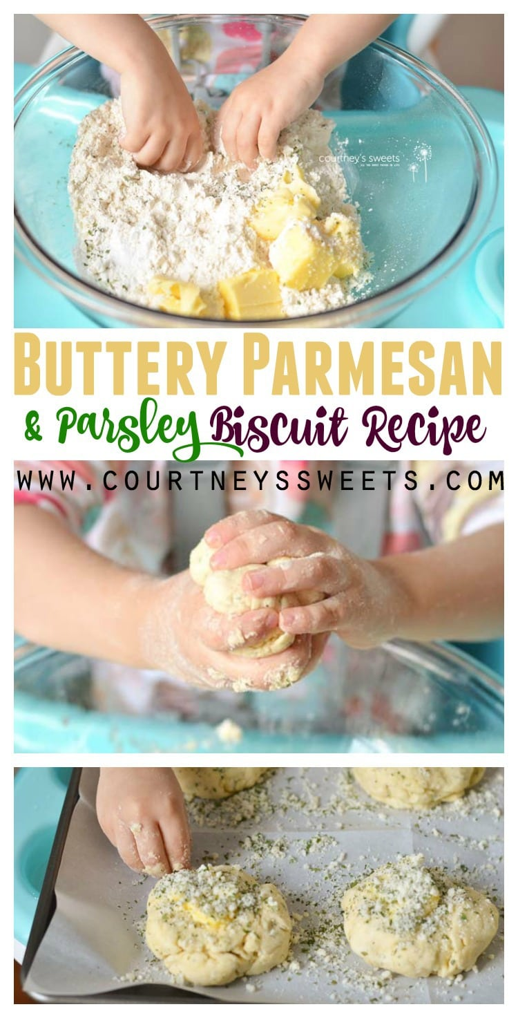 Easy Buttery Parmesan and Parsley Biscuit Recipe