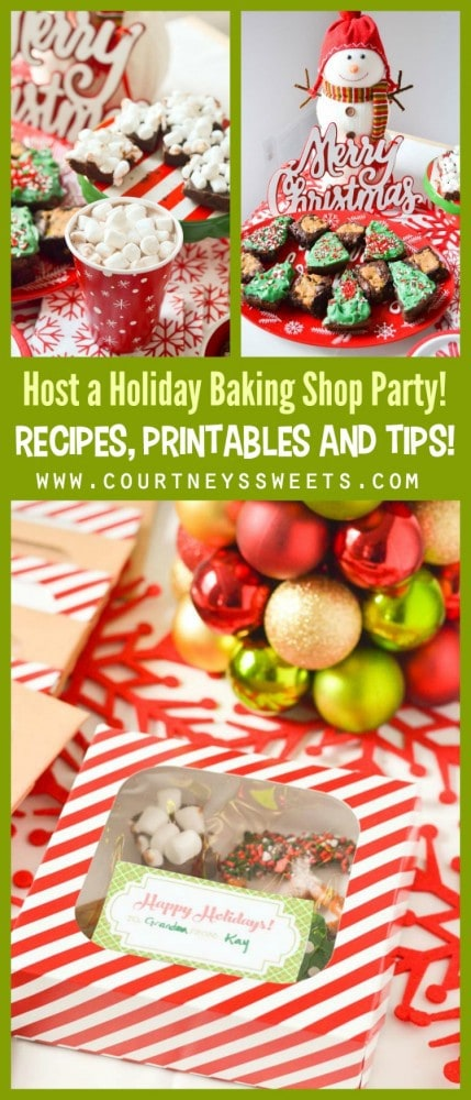 Host a Holiday Baking Shop Party, Recipes, printables and tips!