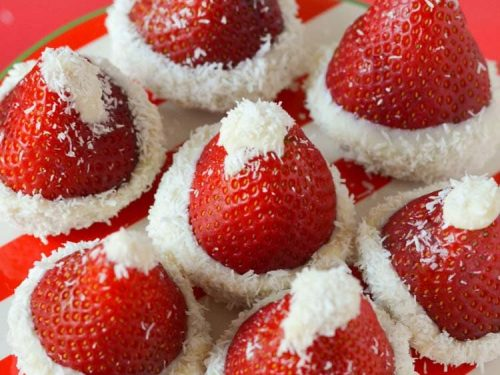 7dd2c193d30f9 OREO Cookie Ball Stuffed Strawberry Santa Hats + Holiday Cookie Party -  Courtney s Sweets