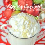 White Hot Chocolate Recipe Quick and easy hot cocoa made with white chocolate www.courtneyssweets.com