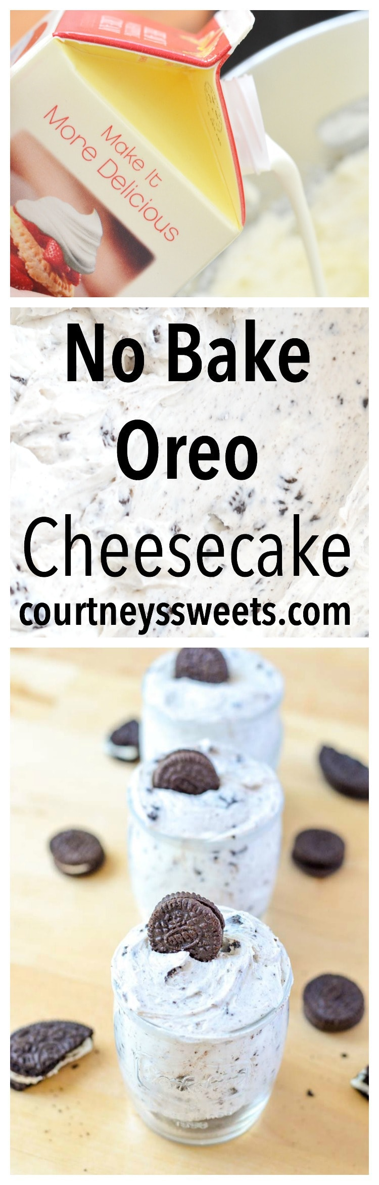 No Bake Oreo Cheesecake Recipe - a delicious dessert in less than 10 minutes!