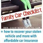 Family Car Checklist - Metromile affordable car insurance