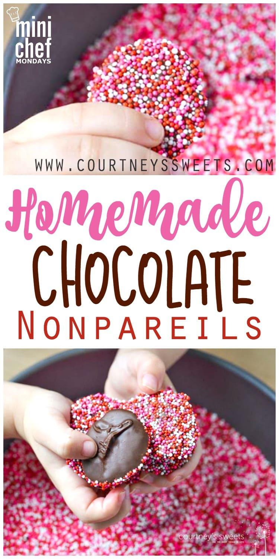 Homemade Chocolate Nonpareils - Super fun, easy and delicious candy recipe