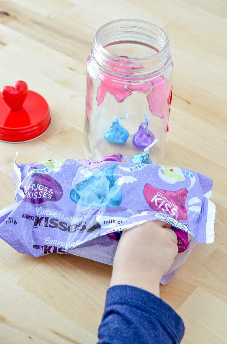 Hugs and Kisses Candy Jar for Valentine's Day