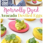 Avocado Deviled Eggs Mini Chef Mondays Recipe for Easter Kid Friendly and Naturally Dyed