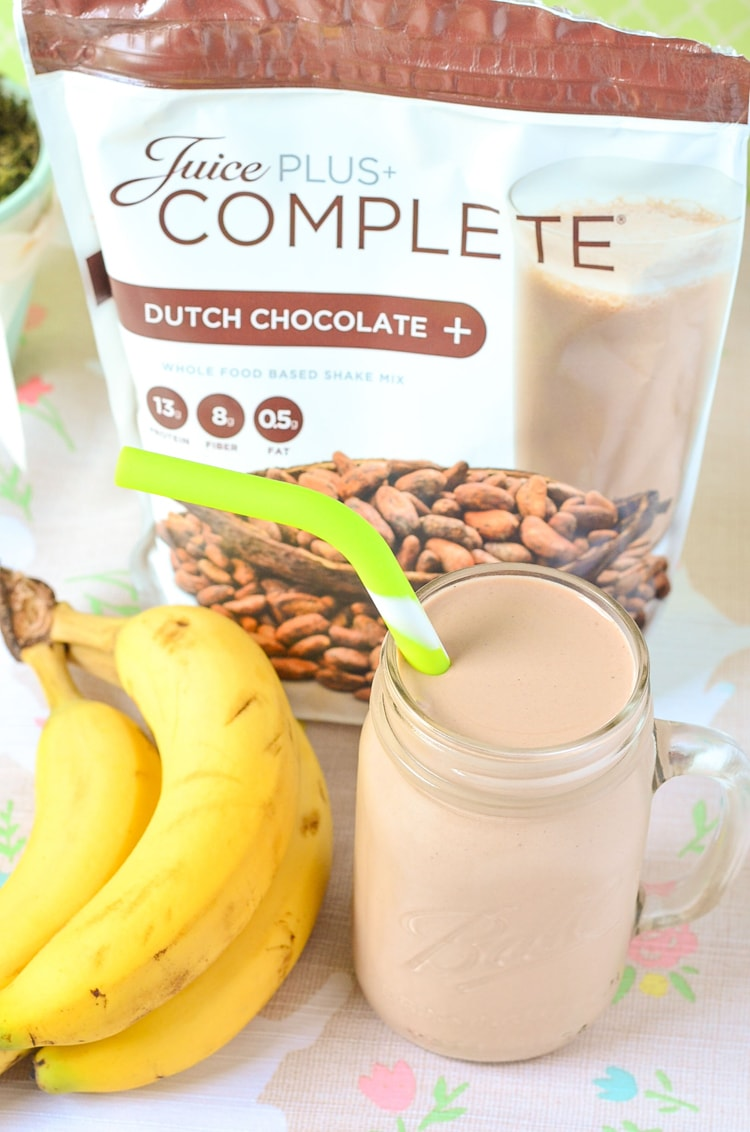 Chocolate Banana Post Workout Smoothie