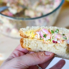 Egg Sandwich Recipe using leftover naturally dyed eggs!