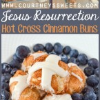 Jesus Resurrection Bite Size Hot Cross Cinnamon Buns Easy Recipe for Kids to make on Easter Sunday
