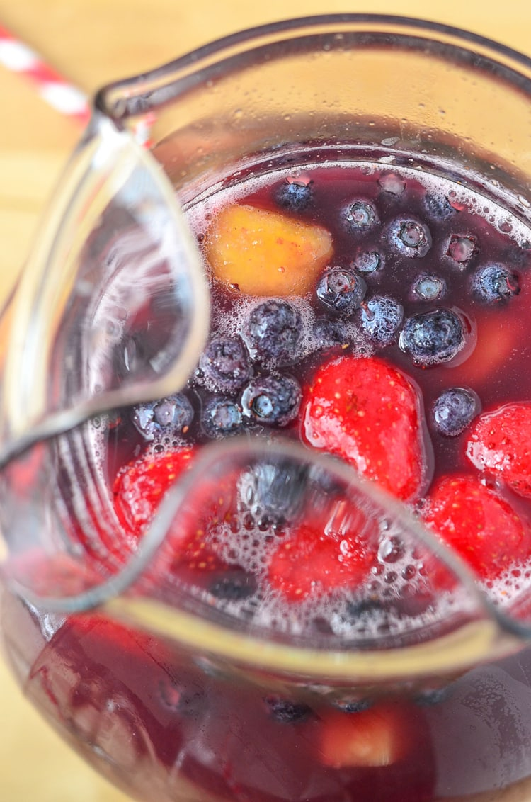 Fruit Punch Recipe - perfect for kids. Refreshing drink recipe using all fruit juices and water, not from concentrate!