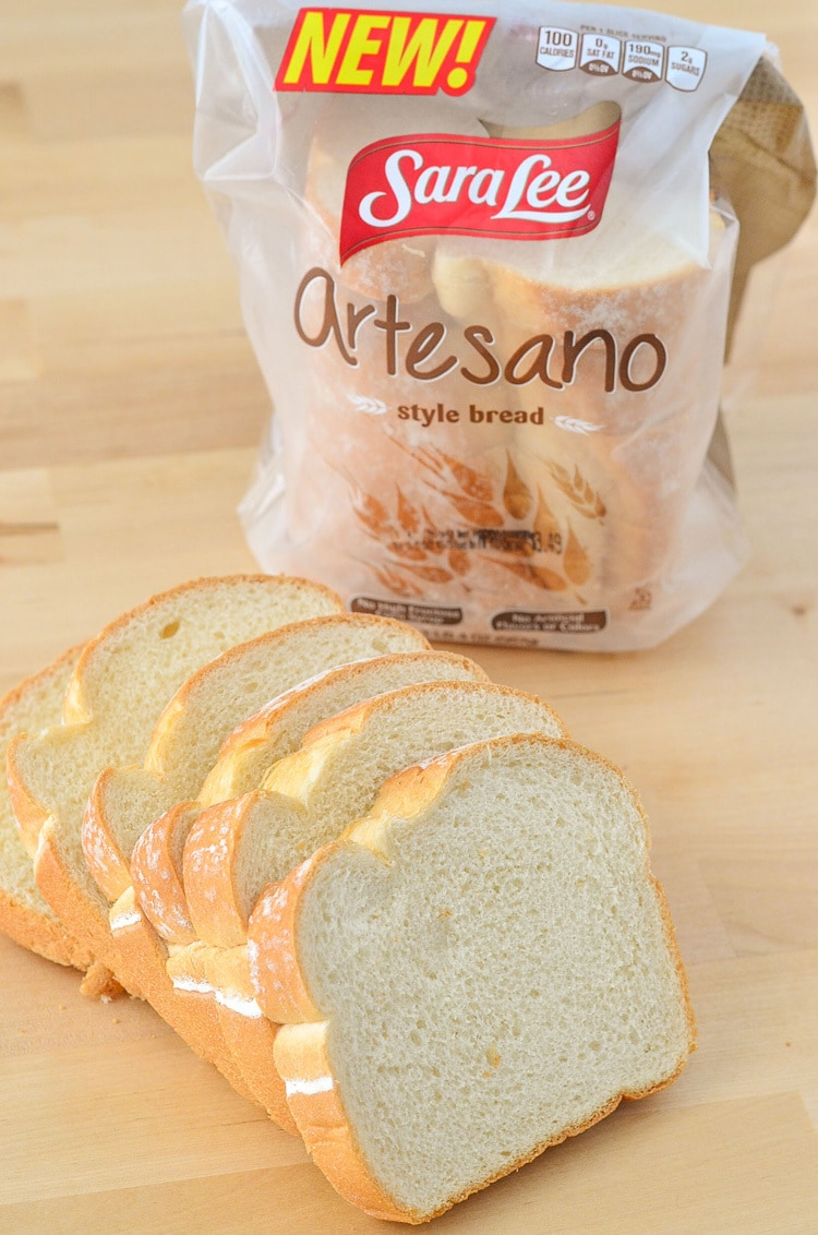 The American Muenster Grilled Cheese Sandwich - Creamy and Cheesy Grilled Cheese to Celebrate National Grilled Cheese Month with Sara Lee® Artesano™ Bread