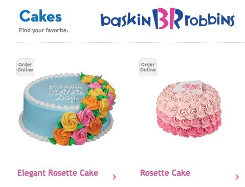 The Almost Perfect Mother's Day p.s. ice cream cake (Baskin-Robbins) / Baskin-Robbins Mothers Day Cakes