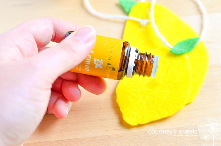 DIY Car Air Freshener using Essential Oils - Scent your car with natural oils instead of chemicals! Great for summer trips when the car can get funky from all the water and beach sand.