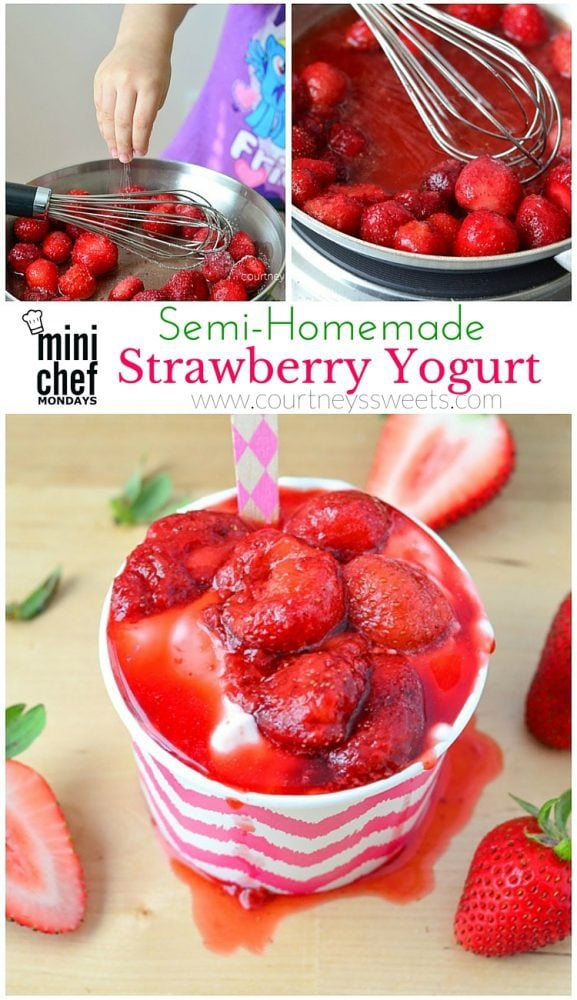 Semi-Homemade Strawberry Yogurt Recipe. This is great for lunches, especially kids lunch boxes for back to school We take delicious REAL food to make Strawberry Yogurt! Easy to make and a healthy snack. Great for those on a budget who love yogurt.