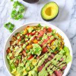 Steak Salad with Cilantro Lime Dressing