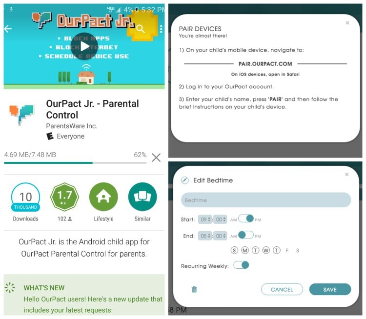 OurPact Free Parental Control App