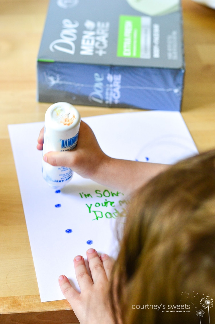 Simple Gifts Craft for Father's Day with Dove Men + Care