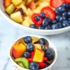 Best Fruit Salad Recipe for Kids - Make the best fruit salad for kids today! We will show you tips and tricks to getting kids to enjoy and eat fresh fruit more often.