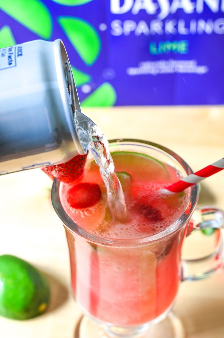 Sparkling Water - Lime Melon Berry Splash Mocktail