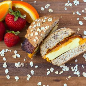 Healthy Good Breakfast On The Go Vegan and Vegetarian option!
