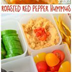 Roasted Red Pepper Hummus for Back to School Vegetarian Vegan Bento Lunch Power your Lunchbox Pledge