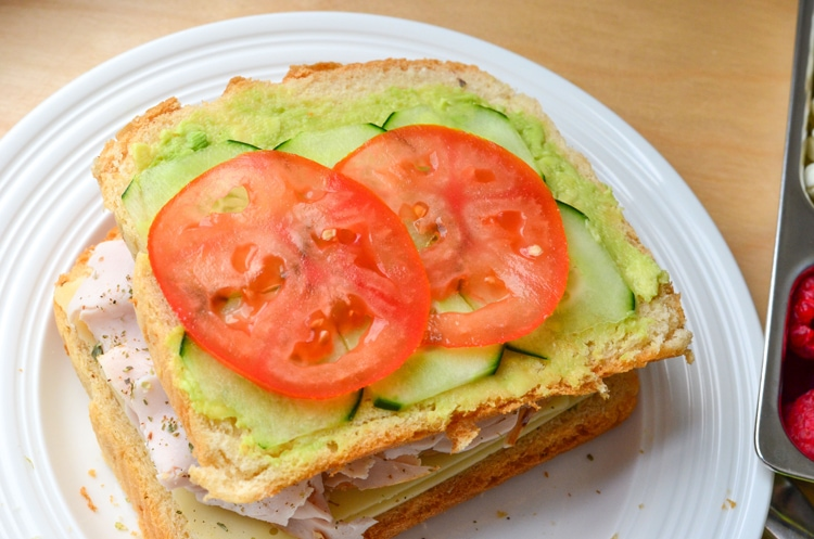 Turkey Cucumber Sandwich