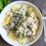 Creamy Slow Cooker Chicken with Mushrooms and Artichokes