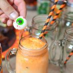 Eye Scream Floats are perfect for your Halloween Party and entertaining! We had so much fun throwing our Eye Scream You Scream we all Scream for Eye Scream Soda Floats Party that we even made simple recipe videos to show you how to make these spooktacular treats! Have fun making this DIY with all your friends and family. We also share graveyard brownies and finger licking good popcorn!