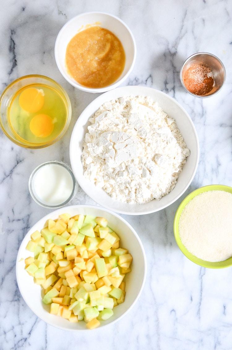 applesauce muffins ingredients